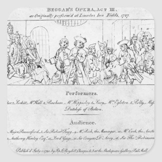 The Beggar's Opera' Square Sticker