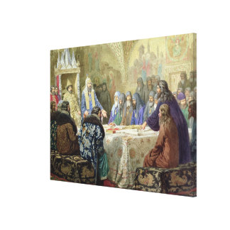 The Beginning of Church Dissidence in Russia Canvas Print
