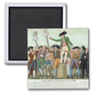 The Beginning of the French Revolution Square Magnet