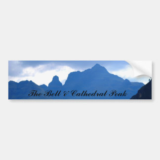 The Bell & Cathedral Peak Car Bumper Sticker