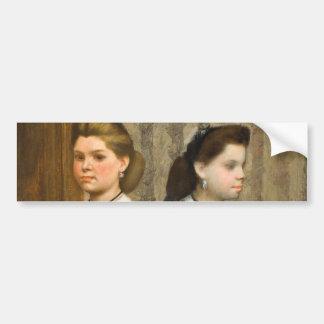 The Bellelli Sisters by Edgar Degas Bumper Sticker