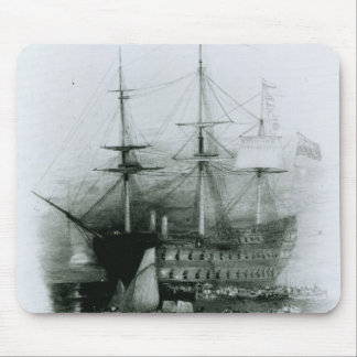 The Bellerophon at Plymouth Sound Mouse Mat