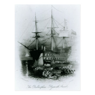 The Bellerophon at Plymouth Sound Postcard