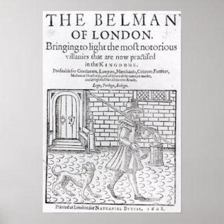 The Bellman of London', by Thomas Dekker Poster