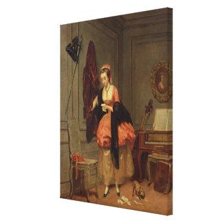 The Beloved Mistress, 1846 Canvas Print