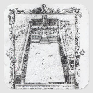 The Belvedere Court at the Vatican Rome, 1581 Square Sticker