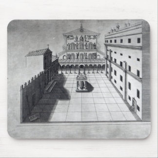 The Belvedere Court in Old St. Peter's Rome Mouse Mat