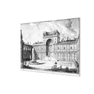 The Belvedere Court in the Vatican Rome Canvas Print