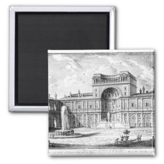The Belvedere Court in the Vatican Rome Magnet
