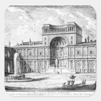 The Belvedere Court in the Vatican Rome Square Sticker