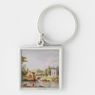 The Belvedere, Petit Trianon Silver-Colored Square Key Ring