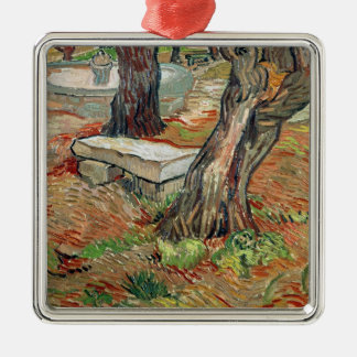 The Bench at Saint-Remy, 1889 Silver-Colored Square Decoration