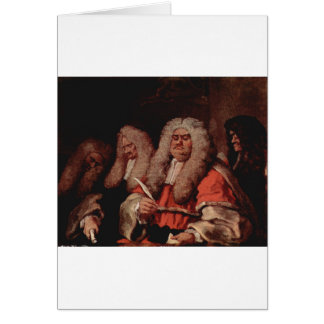The Bench by William Hogarth Greeting Card