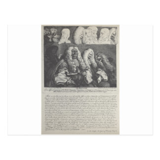 The Bench by William Hogarth Postcard