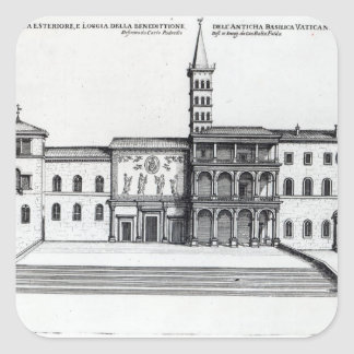 The Benediction Loggia of the Old Vatican Square Sticker