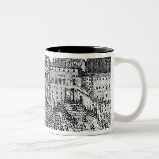 The Benediction of Pope Pius V Two-Tone Coffee Mug