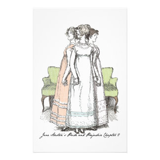 The Bennet Sisters - Jane Austen's P&P Ch 2 Personalised Stationery
