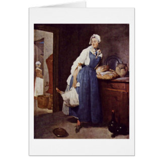 The Besorgerin By Jean-Baptiste Simeon Chardin Greeting Cards