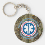 The Best are EMTs, the Rest are Firefighters Basic Round Button Key Ring