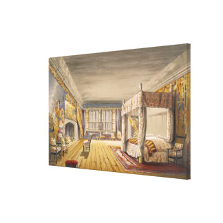 The Best Bedroom, Cotehele House, c.1830-40 (colou Canvas Print
