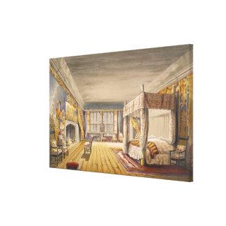 The Best Bedroom, Cotehele House, c.1830-40 (colou Stretched Canvas Prints