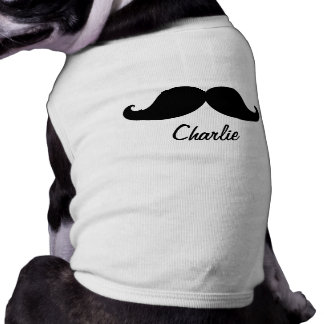 THE BEST BLACK MUSTACHE PERSONALIZED SLEEVELESS DOG SHIRT
