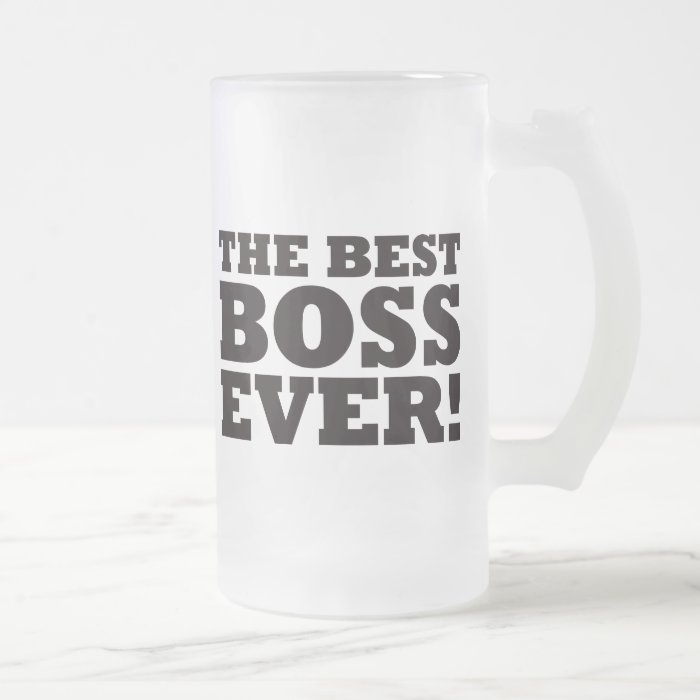 The Best Boss Ever Frosted Glass Beer Mug