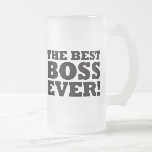 The Best Boss Ever Frosted Glass Mug