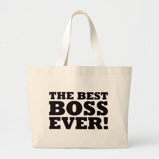 The Best Boss Ever Jumbo Tote Bag