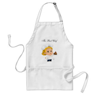 the best chef,with cartoon standard apron