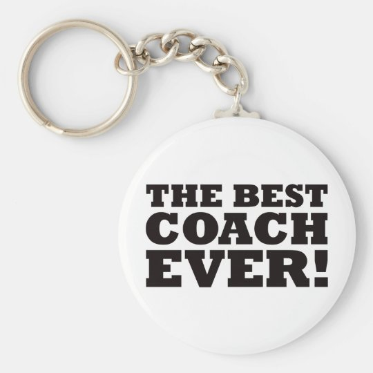 The Best Coach Ever Basic Round Button Key