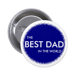 THE BEST DAD IN THE WORLD badge blue and white