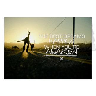 The Best Dreams Happen | Motivational Quote Card