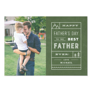 """The Best Father Father's Day Card - Army 5"""" X 7"""" Invitation Card"""