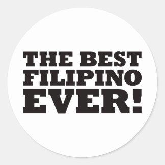 The Best Filipino Ever Round Sticker