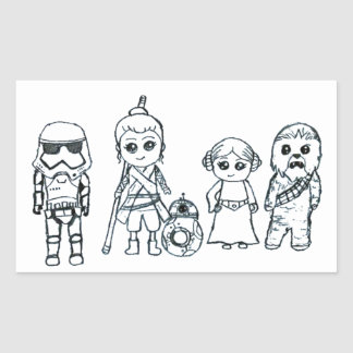 The Best Galaxy Superhero Team Rectangular Sticker
