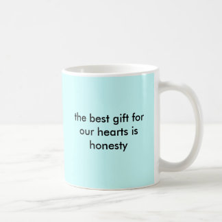 the best gift for our hearts is honesty basic white mug