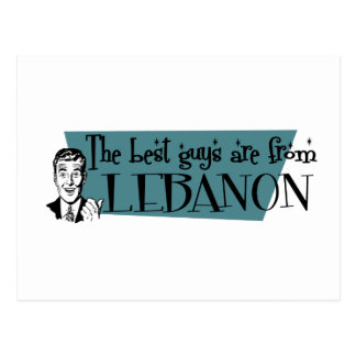 The Best Guys are from Lebanon Postcard