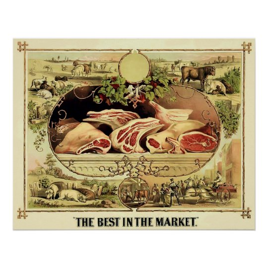 The Best in the Market ~ 1872. Poster