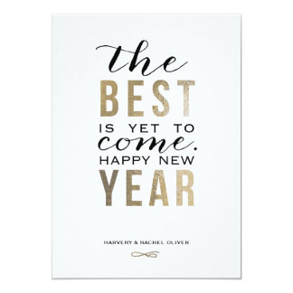 The Best is Yet to Come | New Year Photo Card 13 Cm X 18 Cm Invitation Card