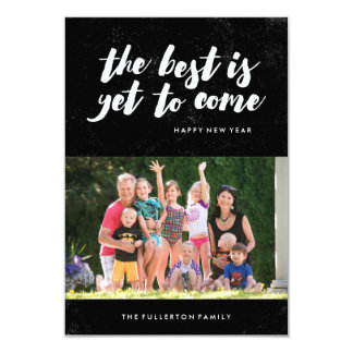 The Best Is Yet to Come New Year's Card - Black 9 Cm X 13 Cm Invitation Card