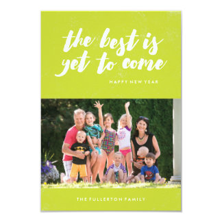 The Best Is Yet to Come New Year's Card - Lime 9 Cm X 13 Cm Invitation Card