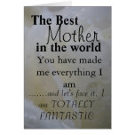 The Best Mother  in the world Greeting Card