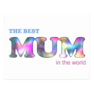 The Best Mum in the World Postcard