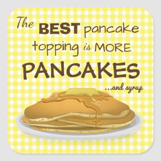 The Best Pancake Topping Square Sticker
