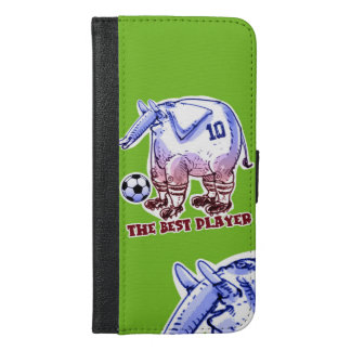 the best player elephant cartoon iPhone 6/6s plus wallet case