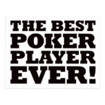 The Best Poker Player Ever Post Card