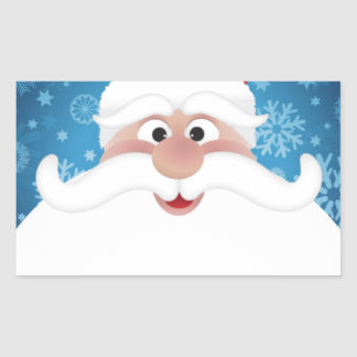 The Best Santa Rectangular Sticker