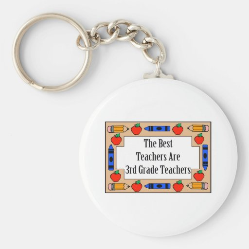 The Best Teachers Are 3rd Grade Teachers Basic Round Button Key Ring