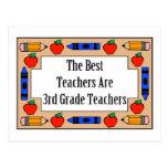 The Best Teachers Are 3rd Grade Teachers Post Card